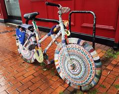 soggy yarn bomb