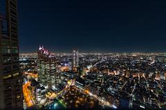 Shinjuku skyline (tokyobogue) Tags: tokyo japan shinjuku nikon nikond7100 d7100 tamron tamron1024mmdiiivc night evening tokyometropolitangovernmentbuilding buildings skyscrapers skyline city cityscape lights longexposure architecture modernarchitecture parkhyatthotel