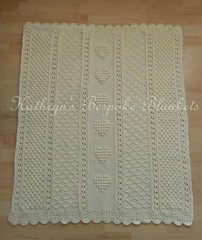 Cupid blanket (Kathryn's Bespoke Blankets) Tags: love heart handmade crochet baby blanket afghan throw christening baptism textured bobble