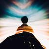 5TUCK 8ETWE3N W0RLD5 (AlfieChallis) Tags: edit photoshop photo photography distort crazy colour colourful green self portrait selfportrait cloud sunset sunrise