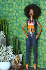 funky photoshoot 3 (photos4dreams) Tags: barbie mattel doll toy diorama photos4dreams p4d photos4dreamz barbies girl play fashion fashionistas outfit kleider mode puppenstube tabletopphotography aa beauties beautiful girls women ladies damen weiblich female funky afroamerican afro schnitt hair haare afrolook darkskin africanamerican canoneos5dmark3
