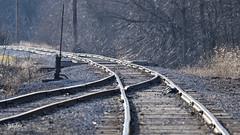 Telephoto Trials (Troy Strane) Tags: coldwater michigan rua nyc oldroad train track
