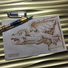 Building gargoyle - napkin (schunky_monkey) Tags: napkinsketch illustration art penandink ink pen fountainpen drawing draw sketching sketch napkin creature wings detail building architecture gargoyle