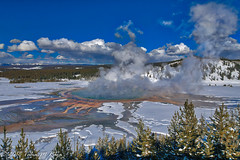 Wide view of Grand Prismatic Hot Spring (taharaja) Tags: bison buffalo geysers hotsprings national oldfaithful park snowmobile westyellowstone winter wonderland wyoming yellowstone deer elk falls firehole gardiner gibons idaho lake madison mammoth montana pahaska prismatic snow thermalpool westthumb