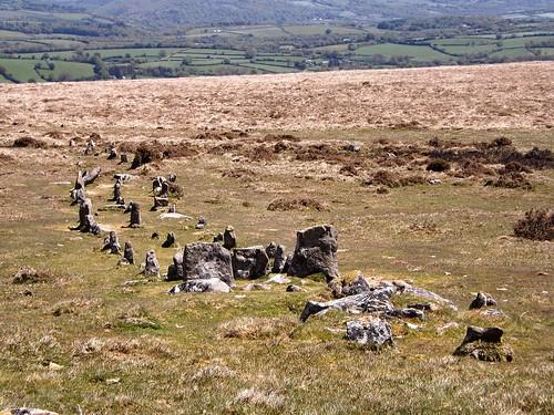 Cosdon stone row