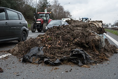 Blocked ring road by farmers - Toulouse - France - 7/02/2018 (patrickbatard) Tags: fdsea fnsea agriculteur manifestation périphérique rocade