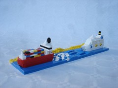 Traffic on Suez canal (fdsm0376) Tags: moc brickpirate bpchallenge microscale lego boat