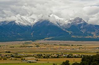 September snowstorm on Mount Princeton, Colorado