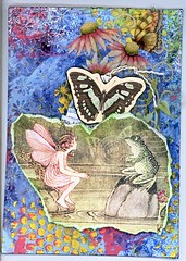 5x7 Journal Page (gwillisinc) Tags: swapbot atc swap stickles diecuts molding paste stencil tag quote enchanting