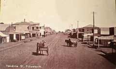 Pittsworth, Qld - 1910 (Aussie~mobs) Tags: vintage queensland australia 1910 pittsworth yandillastreet streetscape shops stores horse cart township town jbrady