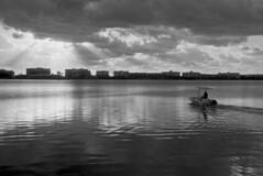 Fish to be Caught (Leica M3) (PositiveAboutNegatives) Tags: leica rangefinder m3 leitz leicam3 50mm 50mmsummicrondr dualrange film analog bw blackandwhitefilm foma fomapan aristaedu rodinal coolscan lakeworth florida boat sunrise firstlight morning