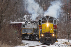 White-Out (kcerrato1) Tags: delaware lackawanna dl railroad railway railfanning alco c424 c425 el erie scranton pa