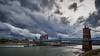 Roebling Bridge with tow boat in Covington KY - M5078376 (j_m_kubler) Tags: roeblingbridgeohiocincinnati covingtonky ohio ohioriver kentucky towboat olympusem5 olympus918mm c1 captureone