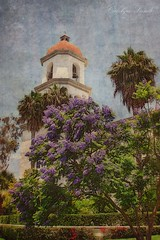 Chapel at San Juan (socalgal_64) Tags: carolynlandi church missiom chapel building architecture california socal sanjuancapistrano sanjuancapistranoca flowers gardens trees palmtree palms lavender colorful usa history spanish historicalsite coth5