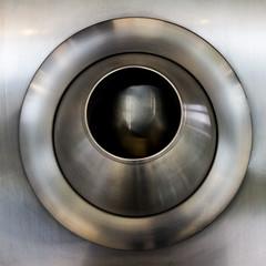 Air Vent ([-ChristiaN-]) Tags: airvent belüftung metal steel matt edelstahl lüftung abstract autostadt wolfsburg objekt abstrakt ufo material modern