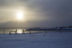 Inviting (Danny VB) Tags: swings balançoire ocean chandler gaspésie winter hiver snow neige reflet reflection sunset canon 6d