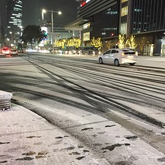 powdered Nagoya station 雪の名古屋駅前 #snow #iPhone6 (kogiso) Tags: instagram
