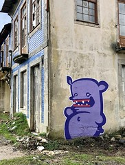 Playing For Time (FATKIWIE) Tags: graffiti spraypaint porto character monster fatmonster kiwie