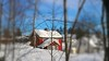 Home is where your heart is. (evakongshavn) Tags: red house redhouse redcabin building winter snow neige hiver winterwonderland winterwald winterlandscape natur nature tiltshift miniature blahblahscape blahblah snowglobe landscape landschaft