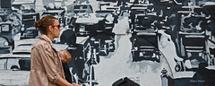 traffic (albyn.davis) Tags: street people mural art nyc newyorkcity city urban walking snow nikon dslr