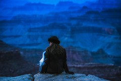Feeling The Blues (Anna Kwa) Tags: grandcanyon grandcanyonnationalpark bluehour lady moment arizona usa annakwa nikon d750 7002000mmf28 my heart always grow blues feeling seeing soul throughmylens silence strong frances mumslist destiny fate life journey faith hope travel world strength