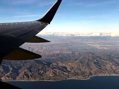 LAX to OGG (Maui) (Jim Mullhaupt) Tags: photo flickr geographic picture pictures camera snapshot photography iphonex airplane window clouds sky mountains landscape wallpaper vacation holiday color flight aerial view flying jet airliner windowseat jimmullhaupt