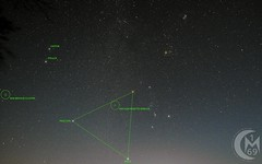 Widefield Image Towards Orion (ANNOTATED) (1CM69) Tags: 1cm69 750d app astropixelprocessor astrophotography beehivecluster bishnym bishopsnympton canon canon750d constellation exiftool geosetter hyades kjevans m42 m44 nebula ngc2244 orion photoshop pleiades rosettenebula england unitedkingdom gbr