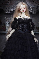 Dark Beauty (AyuAna) Tags: bjd ball jointed doll dollfie ayuana design minidesign handmade ooak clothing clothes outfit dress set historical fantasy style sd sd13 sd10 size sewing sewingfordolls littlemonica little monica chloe whiteskin