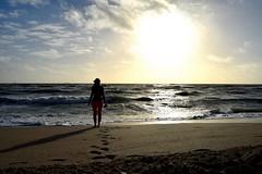 Sunset walk (Gregphoto16) Tags: women sand beach sea ocean shore miami florida sunset girl waves sky sun