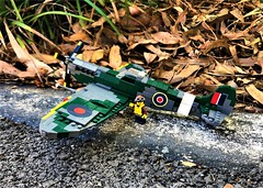 WW2 Supermarine Spitfire (Lego Admiral) Tags: ww2 wwii british allies battleofbritain supermarine spitfire fighter plane warplane lego legoadmiral