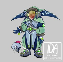 Idaida (ArenaNet) Tags: guild wars 2 gw2 art show sunday class stream video game asura outfit character creative partner wintersday armor concept idaida