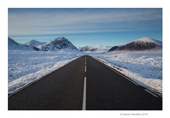 End of the Road (JamieD888) Tags: scotland road mountains snowylandscape glencoe buachailleetivemhor