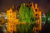 Green Tree (Tony Shertila) Tags: belfortvanbrugge belfryofbruges bruges brugge dijver marketsquare architecture belfort bluehour bridge brussels building canal city cityscape europe night tower water