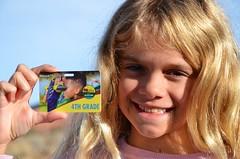 Violet And Her Fourth Grade National Parks Card (Joe Shlabotnik) Tags: justviolet nationalpark utah violet card 2017 canyonlands november2017 canyonlandsnationalpark afsdxvrzoomnikkor18105mmf3556ged