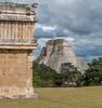 Uxmal (krieger_horst) Tags: uxmal mexiko pyramide wolken