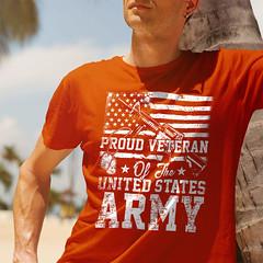 Proud Veteran. US ARMY. Gildan Ultra Cotton T-Shirt. Texas Orange.  | Loyal Nine Apparel (LoyalNineApparel) Tags: 3 3percent armedforces army blackriflesmatter defendthe2nd gunchannels gunfanatics gunporn gunsdaily happy igmilitia igshooters instagood loyalnineapparel loyalnineclothes marines mensfashion menstyle military navy operator pewpew pistols progun rifle safetyfirst thegunlife usairforce veteran