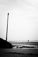 L'hiver est long (cactus2016) Tags: noiretblanc silhouettes sea contrastes humaningeometry blackandwhite streetphotography plage beach bréhec lieux technique