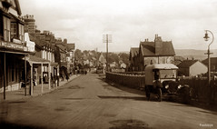 Main Street, Deganwy (footstepsphotos) Tags: deganwy main street road van shop store melling optician cp1714 old vintage photo past historic denbigh wales