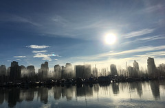 Foggy Day in Coal Harbour (Clara Johnson) Tags: fog vancouver coalharbour bc