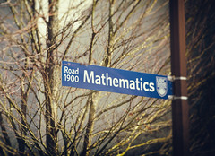 campus street sign (annapolis_rose) Tags: vancouver ubc campus sign streetsign mathematics trees