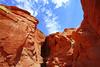 Beaatiful sky over Upper Antelope Canyon, Arizona, USA (Andrey Sulitskiy) Tags: usa arizona antelopecanyon