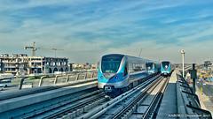 Dubai, United Arab Emirates: Noor Bank metro station (Red Line) (nabobswims) Tags: ae dubai hdr highdynamicrange hochbahn ilce6000 lightroom metro nabob nabobswims noorbank photomatix rapidtransit sel20f28 sonya6000 station subway ubahn unitedarabemirates