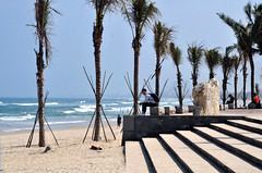 Shadows and lines (Roving I) Tags: quietmoments contemplation sea shorelines steps stone surf whitesand beaches palmtrees lines shadows symmetry outlines silhouettes peace danang vietnam