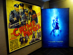 The Shape of Water Movie Poster And Crime Patrol 6461 (Brechtbug) Tags: the shape water movie poster 2017 guillermo del toro sally hawkins doug jones gilman creature from black lagoon monster universal pictures studio monsters new york city green creatures undead zombie cadaver its alive scary horror terror halloween fright moody shadow shadows face portrait hollywood transylvania holiday amphibian fish man crime patrol