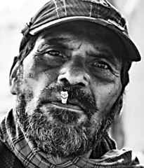 Who cares about lungs? Lamhetaghat, Jabbalpur, India (senguptapulak) Tags: street photography male smoking black white natural light