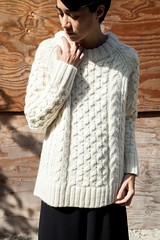Heavy knitwear outfit (Mytwist) Tags: apiece apart fisherman sweater wool knit love passion donegal irish style fashion retro casual chunky aranstyle knitted cabled design pullover knitting modern heavy pattern