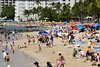 Crowded Waikiki Beach (trailwalker52) Tags: waikiki hawaii oahu beautiful beach tourist vacation crowded crowdedbeach relaxing sunbathing suntanning lifeguard lifeguardtower