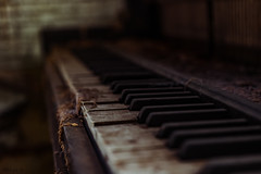 Old Hymns (matthewken4722) Tags: crusty macro decay church faded mensretreat stilllife abandon piano old
