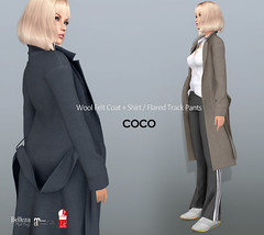 COCO New Release @Uber January 25th (cocoro Lemon) Tags: coco coat trackpants uber new mesh fitted secondlife fashion maitreya slink belleza