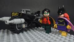 Bruce Will Never Know (-Metarix-) Tags: lego minifig dc comics comic nightwing dick grayson barbra gordon batgirl batman gotahm family ship batpod